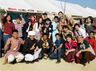 広川町国際交流イベントでの集合写真